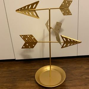 JEWELRY STAND gold w arrows